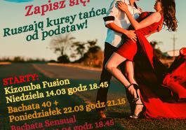 nowe kursy tańca od podstaw great island szkoła tańca kizomba bachata 40 + bachata sensual łódź taniec